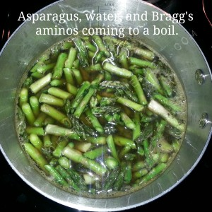 Asparagus In The Pot